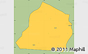 Savanna Style Simple Map of Ouarkoye, cropped outside