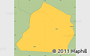 Savanna Style Simple Map of Ouarkoye