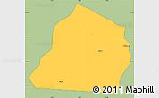 Savanna Style Simple Map of Ouarkoye, single color outside