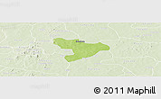 Physical Panoramic Map of Oury, lighten