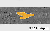Political Panoramic Map of Oury, darken, desaturated