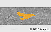 Political Panoramic Map of Oury, desaturated