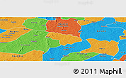 Political Panoramic Map of Pa