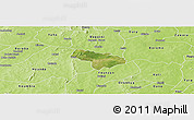 Satellite Panoramic Map of Pa, physical outside