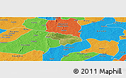 Satellite Panoramic Map of Pa, political outside