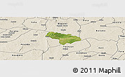 Satellite Panoramic Map of Pa, shaded relief outside