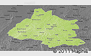 Physical Panoramic Map of Mou Houn, darken, desaturated