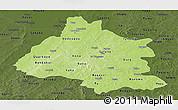 Physical Panoramic Map of Mou Houn, darken