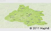 Physical Panoramic Map of Mou Houn, lighten
