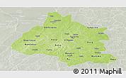 Physical Panoramic Map of Mou Houn, lighten, semi-desaturated
