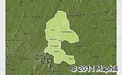 Physical Map of Safane, darken