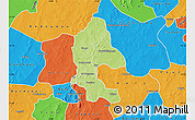 Physical Map of Safane, political outside