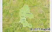 Physical Map of Safane, satellite outside