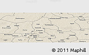 Shaded Relief Panoramic Map of Safane