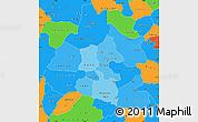 Political Shades Simple Map of Mou Houn, political outside