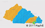 Political 3D Map of Nahouri, cropped outside