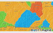 Political 3D Map of Nahouri