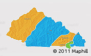 Political 3D Map of Nahouri, single color outside