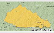 Savanna Style 3D Map of Nahouri