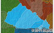 Political Shades Map of Nahouri, darken