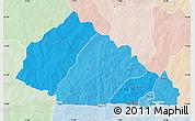 Political Shades Map of Nahouri, lighten