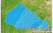 Political Shades Map of Nahouri, satellite outside