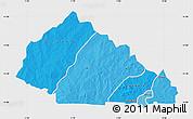 Political Shades Map of Nahouri, single color outside