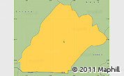 Savanna Style Simple Map of Po
