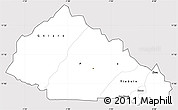 Silver Style Simple Map of Nahouri, cropped outside
