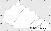 Silver Style Simple Map of Nahouri, single color outside