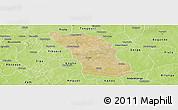 Satellite Panoramic Map of Boulsa, physical outside