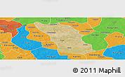 Satellite Panoramic Map of Boulsa, political outside