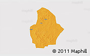 Political 3D Map of Bouroum, cropped outside