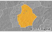 Political 3D Map of Bouroum, desaturated