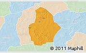 Political 3D Map of Bouroum, lighten