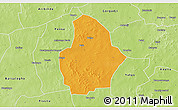 Political 3D Map of Bouroum, physical outside