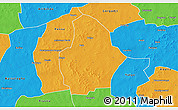 Political 3D Map of Bouroum