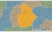 Political 3D Map of Bouroum, semi-desaturated