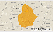 Political 3D Map of Bouroum, shaded relief outside