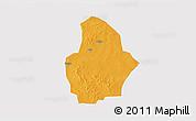 Political 3D Map of Bouroum, single color outside