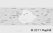 Silver Style Panoramic Map of Bouroum