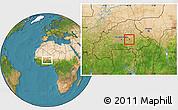 Satellite Location Map of Kando