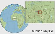 Savanna Style Location Map of Kando