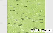 Physical Panoramic Map of Namentenga