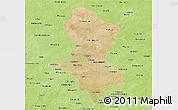 Satellite Panoramic Map of Namentenga, physical outside