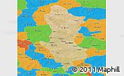 Satellite Panoramic Map of Namentenga, political outside