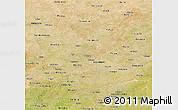 Satellite Panoramic Map of Namentenga