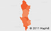 Political Shades Simple Map of Namentenga, single color outside
