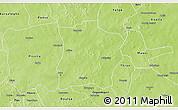 Physical 3D Map of Tougouri
