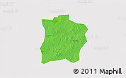 Political 3D Map of Tougouri, cropped outside